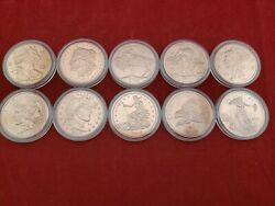 Zombucks - Complete Set of 10 one oz Copper Rounds in Sleeves - Walker to Saint
