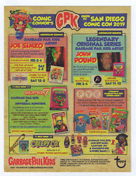 Garbage Pail Kids SDCC 2019 Exclusive Promotional Guide Card Topps GPK  $19.95