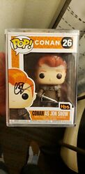 Conan as Jon Snow SDCC Excl Funko Pop! 2019 Exclusive signed in Protector