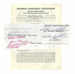 Bill Russell 1975 Contract Signed as General Manager