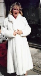 White Mink Coat-Full Length Perfect for the Holidays
