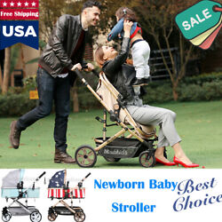 Luxury 0-3 YEAR BABY Newborn Baby Stroller Pushchair Foldable Buggy Travel US