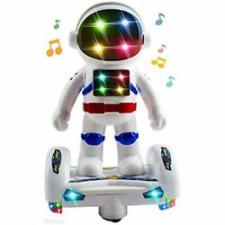 Space Astronaut Robot Toy With Stunning 3D Lights Music Bump & Go Action For