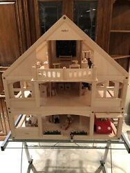 WOOD WOODEN HOME DOLLHOUSE PLAN TOYS RYAN'S ROOM Large Lot