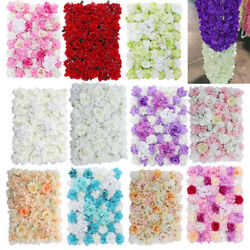 Artificial Rose Flower Wall Panel Home Wedding Backdrop Main Road Floral Decor $28.58