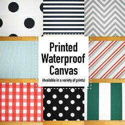 NEW! Printed Canvas Waterproof Outdoor Fabric 59