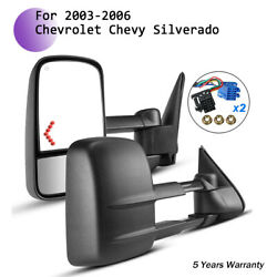 L+R Side View Towing Mirror Arrow signal Power Heated for 03-07 Chevy GMC
