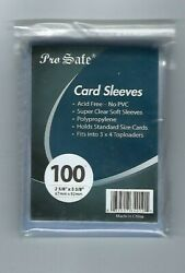 1000 Pro-Safe Standard Size Clear Card Penny Sleeves 2 58 x 3 58(67mm x 92mm)  $10.99