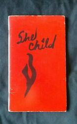 She Child (1982) Rare Poetry Book SIGNED BY ROSANNA ARQUETTE