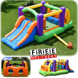 Inflatable Bounce House Slide Bouncer Blower Commercial Yard Outdoor Playground