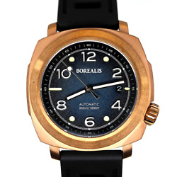 ✅ BOREALIS NAVALE BRONZE BLUE DIAL DIVER 300M INTERNATIONAL SHIPPING US DEALER $429.00