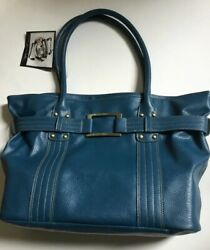 NWT BUTLER BAG LARGE BLUE PURSE ORGANIZER SHOULDER TOTE HANDBAG