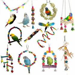 Pets Bird Parakeet Cockatiel Budgie Parrot Hanging Swing Rope Cage Training Toys GBP 1.19
