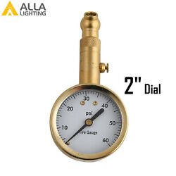 Traditional Brass Portable Copper TIRE PRESSURE GAUGE Meter Easy to use amp; read $13.94
