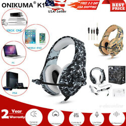 ONIKUMA Stereo Gaming Headset Headphone Wired Camo Earphone PC Laptop 3.5mm Mic