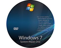 Window 7 Recovery All Versions  32 & 64 bit  Easy to use Recovery disk  CD