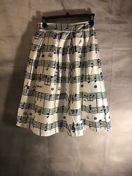 Music Notes Ped Skirt Small Poodle Costume Retro Carhop $14.55