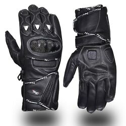 Leather Gloves Motorcycle Motorbike Racing Carbon Knuckle Protection Winter $21.99