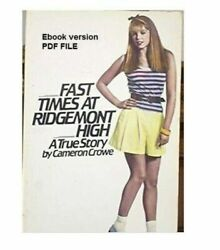 Fast Times at Ridgemont High by Cameron Crowe PDF file E B O O K