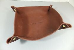 Line of Trade Bespoke Post Leather Valet Catchall Tray Organizer Dish