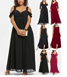 Women's Plus Size Maxi Cocktail Party Wedding Evening Formal Midi Long Dresses