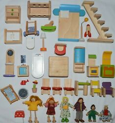 Plan mix Toys Dollhouse Dolls Doll Furniture Lot wood wooden some Melissa