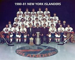 1980-81 NEW YORK ISLANDERS 8X10 TEAM PHOTO NY PICTURE NHL HOCKEY