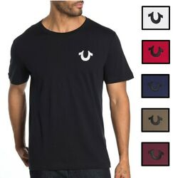 True Religion Men#x27;s Embroidered Horseshoe Logo Tee T Shirt $25.00