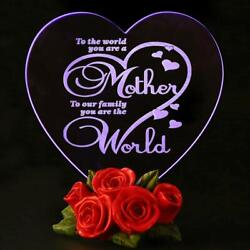 Mothers Day Gift Birthday Presents for Mom Color Changing LED Cake Toppers Decor
