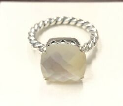 Pandora Mother of Pearl White Sincerity Ring #190828MP +HINGED BOX+POLISH CLOTH
