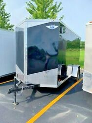 NEW 2019 6x12 6 x 12 V-Nosed Enclosed Cargo Motorcycle Trailer Ramp
