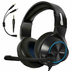 Noise Cancelling Over Ear Headphones with Mic Bass Surround Soft Memory Earmuff