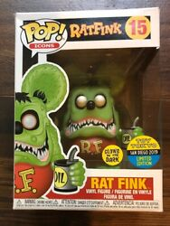 FUNKO POP ICONS SERIES GITD RAT FINK 2019 SDCC TOY TOKYO SHARED EXCLUSIVE damage