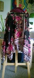 Hippie Boho Floral Wrap Skirt by Angie Medium fit. $22.99