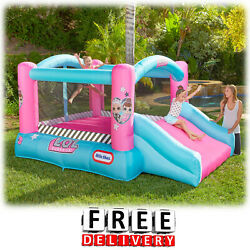 Inflatable Bounce House Slide Blower Bouncer Yard Center Child Kid Playground