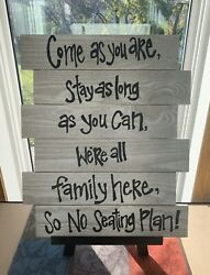 Hand Painted Sign For Your Wedding Grey And Black Used Once