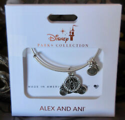 ALEX and ANI ~Cinderella Carriage DISNEY 2019 Silver Bangle Bracelet~ NWTC $45