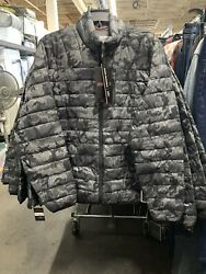 $125 Hawke & Co. Outfitter Men's Packable Down Puffer Jacket Grey Hunter Camo