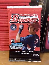 2011 Bowman Baseball Factory Sealed Pack from Walmart Target Gravity Box Harper