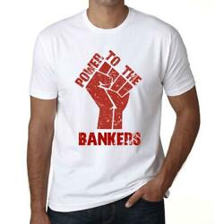 Ultrabasic Men#x27;s Graphic T Shirt: Power to BANKERS White $16.95
