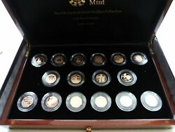 2009 Royal Mint Celebrating 40 Years Piedfort 50p Gold Proof Coin Set Issue 40