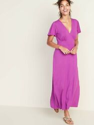 NWT: old navy Waist Defined Cross Front Jersey Maxi for Women XS $45 $20.00