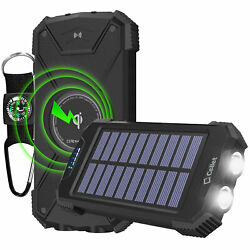 Cellet Solar Powered 10000mAh Outdoor Portable Wireless Charging Power Bank $24.99