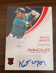 2016 Immaculate Collection Rookie Autographs Red #RA-KE Ketel Marte Auto #25