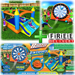 Inflatable Bounce House Dartboard Slide Bouncer Blower Yard Outdoor Playground