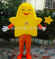Halloween Orange Starfish Mascot Costume Cosplay Outfits Clothing Carnival Adult