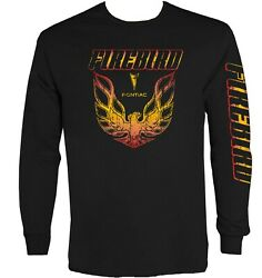 Firebird Shirt Pontiac Trans Am Long Sleeve Graphic Men's Size Medium-XL