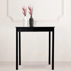 Black Wooden Style Parkland High Pub Table Height Dining Room Square Table Desk