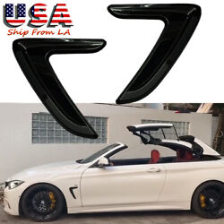Black ABS Side Fender Air Vent Decor Cover Trim For 12-16 BMW 3 Series F30 F31