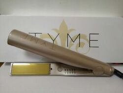 new TYME Iron 2 in 1 Hair Straightening Curling Gold Plated Titanium